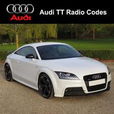 Audi TT Radio Codes Unlock Stereo Code PIN | Concert - Symphony - Chorus  RNS-E