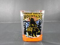 VINTAGE GREAT SMOKY MOUNTAINS BLACK BEARS SOUVENIR SHOT-GLASS DECOR BAR-WARE
