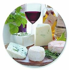 EasyLife Glass Cheese & Wine Design Lazy Susan Turntable