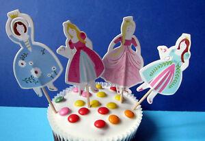 Prinzessinnen - 24 Cupcake Muffin Kuchen Topper - Käsepicks - Kuchendeko - Deko