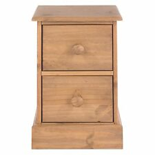 Core Products 2 Drawer Petite Bedside Cabinet Wood Antique Wax
