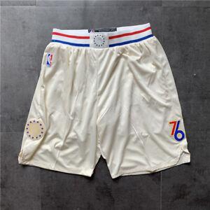Philadelphia 76ers Hot sale City Edition White Basketball Shorts Size:S-XXL