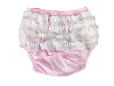 New Soft Adult   PVC frilly pull-on Plastic Pants #P003-15