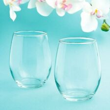 30 Stemless Wine Glasses Wedding Bridal Baby Shower Birthday Event Party Favors