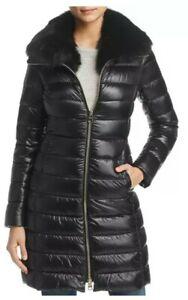 Herno Elisa Fox Fur-Collar Down Coat Size 40 IT/4 US