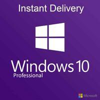 Windows 10 PRO Professional Key 32/64 Bit Product Activation Code INSTANT