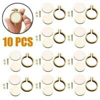 10-Pack Mini Embroidery Hoop Ring Wooden Cross Stitch Frame For Hand Crafts DIY