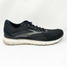 Brooks Mens Glycerin 18 1103291D057 Black Blue Running Shoes Lace Up Size 14 D
