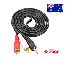 Premium AUX 3.5mm Male to 2 RCA 2RCA M/M Audio Adapter Stereo Headphone Cable AU