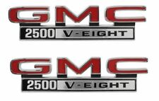 Trim Parts 1968-1972 GMC 2500-V Eight Front Fender Emblem Set Made in the USA