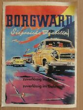 Altes Werbeplakat BORGWARD Siegreiche Isabella