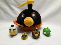 Angry Birds Mini Figures Mixed Lot 4 Rubber Plastic angry birds plush plushie