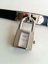 Authentic Hermes  DIAMONDS Kelly Wrist Watch Crocodile strap, original Box ,New