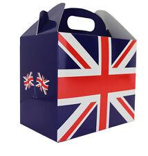 10 x scatole spiovente Union Jack-cesto regalo-Partito pranzo Snack Box
