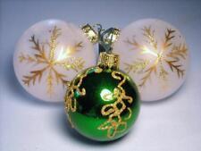 3 Vintage Christmas Balls w/ Glitter