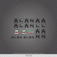 01003 Alan Bicycle Stickers Transfers Black Decals