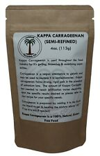 Kappa Carrageenan - 4 Ounces (1/4 lb) Semi-Refined - Food Grade