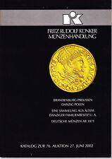 HN Fritz Rudolf Kunker Munzenhandlung – BRANDEBURG-PREUSSEN DANZIG POLEN cb175