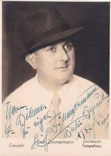 ERICH ZIMMERMANN opera tenor signed Bayreuth photo