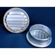 "Soffit Vents Maurice Franklin Louver-2.5"" Round Aluminum With Insect Screen Per"