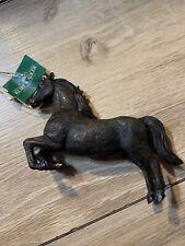 Kurt Adler Resin Horse Christmas Ornament--Brown/Black