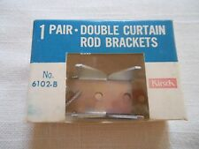 Kirsch 1 Pair Double Curtain Rod Brackets Vintage 6102-B New
