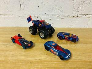 Hot Wheels Superman Lot Monster Jam Bully Goat Covelight Character Car DJP09