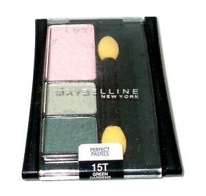 MAYBELLINE Perfect Pastels Eye Shadow/Enhancer Trio GREEN GARDENS 15T New/Seal