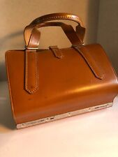VTG Master Products 6 Slot Catalog Case Top Grain Saddle Leather Bag Brown USA