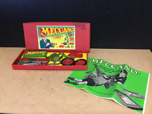 OLD VINTAGE MECCANO BOXED SET ACCESSORY OUTFIT No 2A WITH INSTRUCTIONS