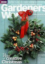 BBC Gardeners World December 2016 magazine special subscriber's edition
