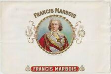 Francis Marbois - Cigar Box Label