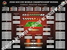 "2018 FIFA World Cup Russia Schedule Wall Chart Poster. Buy 2 Get 1 Free 18""x 24"""