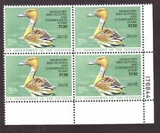 US RW53 Hunting Permit Duck Stamp Mint Plate Block of 4 VF-XF OG NH