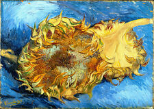 Vincent van Gogh Still Life with Sunflowers reproduction 16.5X11.7 canvas print