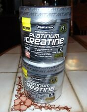 MuscleTech Essential Series Platinum 100% Creatine  BONUS Size 80 svgs lot of 2