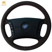 Black Suede Steering Wheel Cover for BMW E46 318i 325i E39 E53 X5 #BM90