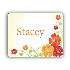 Personalized Computer Mouse Pad Flower Design