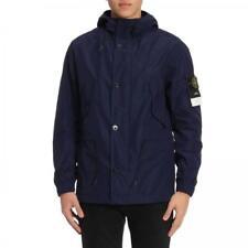 STONE ISLAND Navy Micro Reps Parka Jacket L  RRP £495