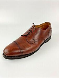 Allen Edmonds Men's Benton Cognac Quarter-Brogue Cap Toe Derby 3458 US 13 D