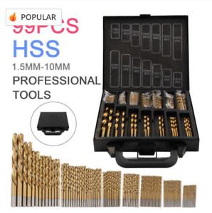 Cobalt Drill Bit Set High Speed Steel HSS Twist Bits 99 Pieces With Case Bargain