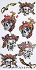 Artoz Artwork 3D-Sticker, Totenköpfe, Piraten, Seeräuber