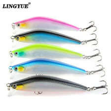 5pcs small minnow fishing lures crankbaits hard baits tackle wobblers 7cm/6.5g