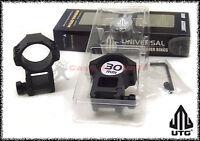Coppia di Anelli UTG per base weaver tubo 30 mm alti per ottica cannocchiale