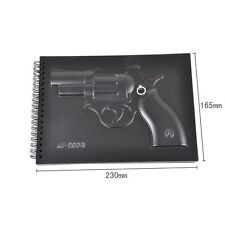 3D Weapon Hardcover Notebook Keyholder Diary Memo Note Pad Gun Style