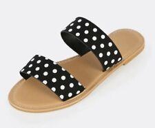 Polka Dot Double Strap Slides NWT