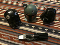 Star Wars Galoob Micro Machines 1996 Playsets Heads & Lightsaber Boba Fett Vader