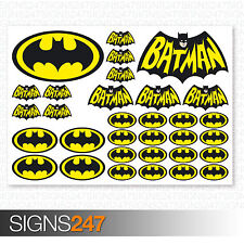 BATMAN STICKERS - 32 Printed Vinyl Batman Stickers Car Van Motorbike Skateboard