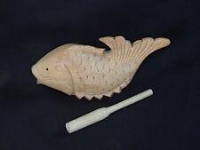 FISH DRUM/SCRAPER KIT - You Paint Kit ~ From Vietnam ~ JAMTOWN