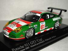 MINICHAMPS PORSCHE 911 GT3 CUP DAYTONA 2005 # 61 1/43